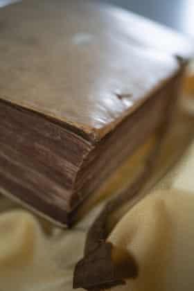 Johan van Oldenbarnevelt's leather-bound diary