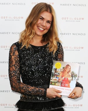 Madeleine Shaw with her book Get the Glow.