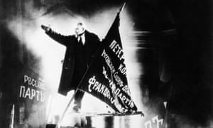 'Reimagining history for posterity' … a vision of Lenin in October by Sergei Eisenstein.