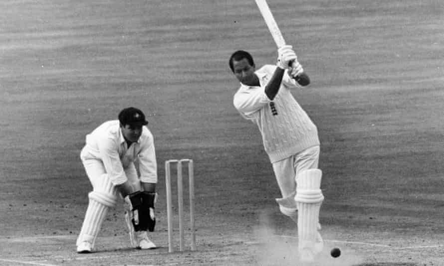 The South African Basil D'Oliveira, batting, played 44 tests for England.