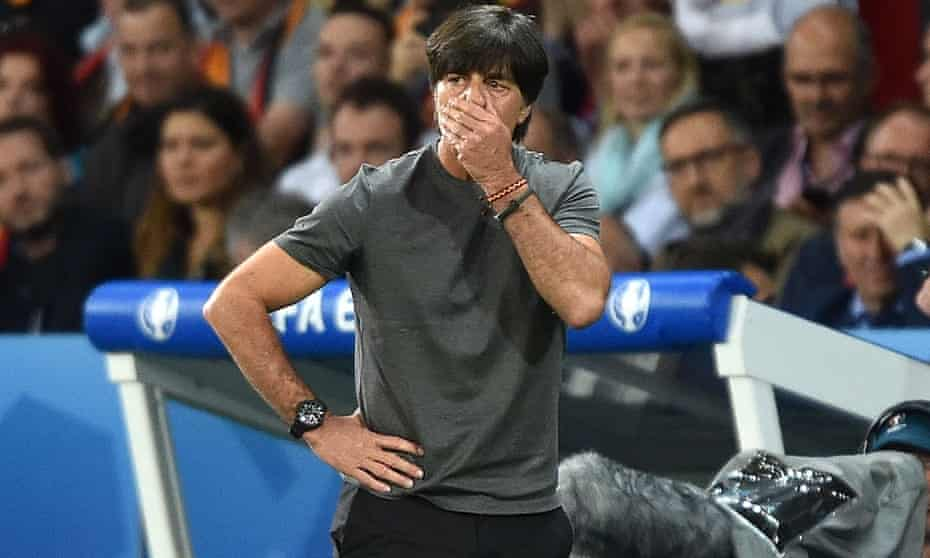 Germany's Joachim Löw has said sorry for reaching down into his trousers, front and back, and then smelling his hand. His actions caused a stir on social media