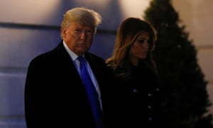 Donald Trump and first lady Melania Trump boarded Marine One at the White House.