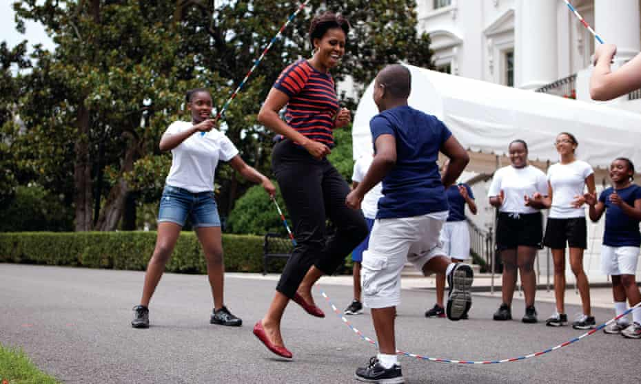 Fun and games outside the White House