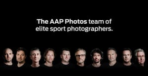 AAP's promotional shot for its team of sport photographers