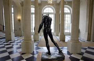 Imagine living there … Burgher of Calais, by Rodin, displayed in the hall.