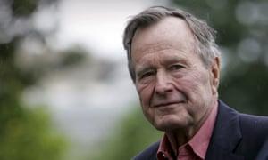 George HW Bush, pictured in Washington in 2008.
