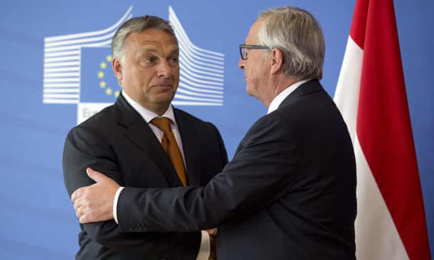 European commission president Jean-Claude Juncker has described Hungary prime minister Viktor Orbán as 'a hero'.