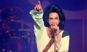 Prince on stage at the Parc des Princes stadium in Paris on 16 June 1990. The singer died in 2016 of an accidental drug overdose.