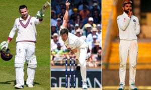 Dean Elgar, Mitchell Starc and Virat Kohli were three of the standout Test cricketers of 2017.