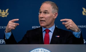 Scott Pruitt speaks at a news conference.