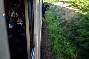 The train approaches Bulawayo main station