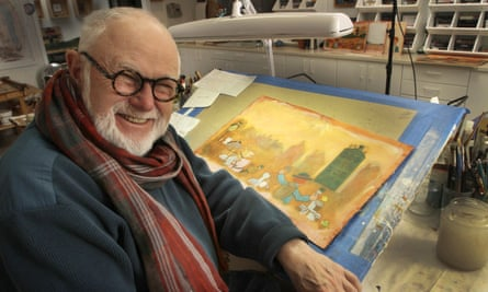 Tomie dePaola at work in his studio in New London, New Hampshire, in 2013.