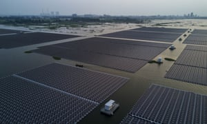 A floating solar farm in Anhui province, China