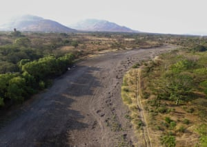 The dry riverbed of the Río Chiquito, Nacaome, Honduras