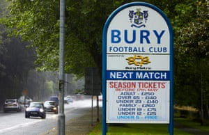 A sign advertising Bury's next game has no answer for fans.