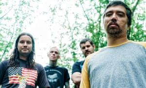 Punishing … Converge, from left, Ben Koller, Jacob Bannon, Kurt Ballou and Nate Newton.