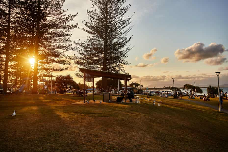 The picnic and barbecue area at Byron Bay's Main beach
