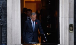 Bank of England Governor Mark Carney leaving 10 Downing Street on Monday
