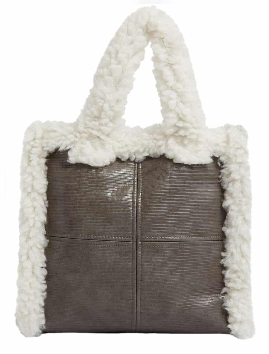 Lolita faux-shearling tote bag