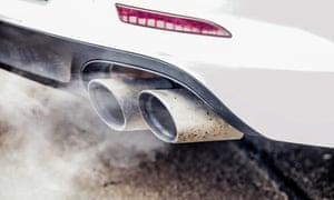 Exhaust emissions from a car