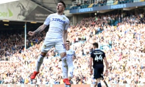 Leeds United's Pablo Hernandez celebrates scoring against Millwall last season.