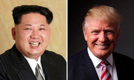 North Korean leader Kim Jong-un and Republican US presidential candidate Donald Trump.