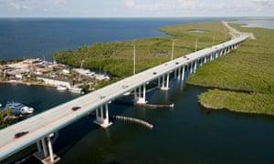 Road through the Florida Keys