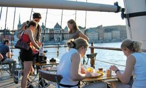 The AF Chapman & Skeppsholmen is a famous hostel on an old sailing vessel