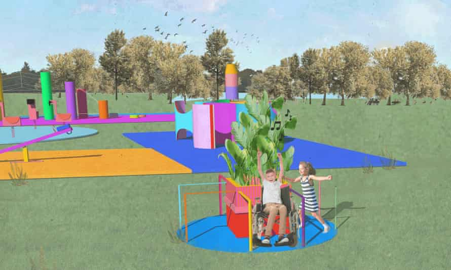 An artist's impression of a merry-go-round which is part of a new playground for the Becontree Forever project.