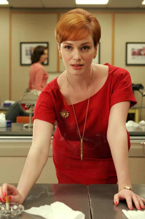 Joan (Hendricks) in the first season of Mad Men.