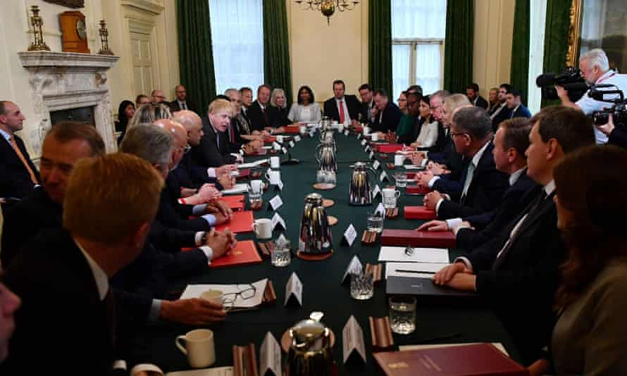 The cabinet, which did not follow the three Cs, met last week on Downing Street.