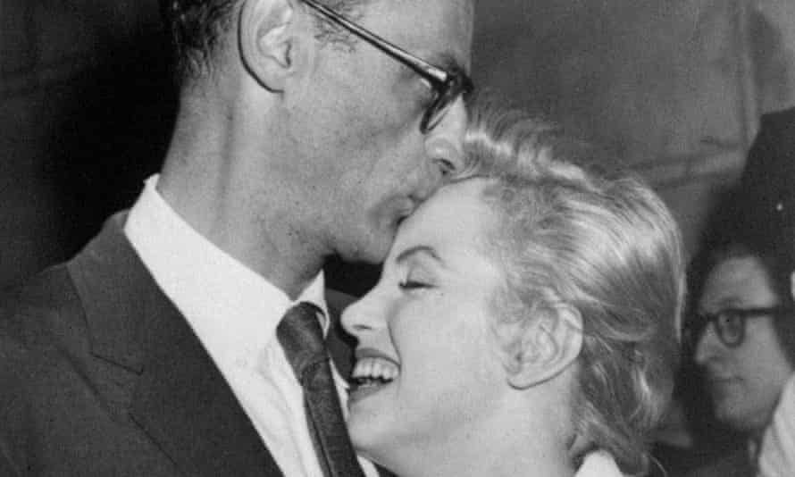 Marilyn Monroe with her then fiance Arthur Miller at the actor's New York apartment in 1956.