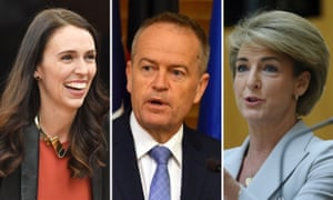 Jacinda Ardern, Bill Shorten and Michaelia Cash