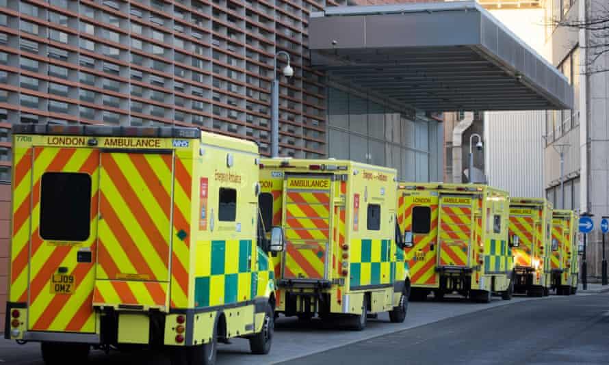 Ambulances at the Royal London hospital this week.