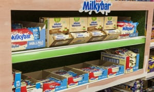 Milkybar Wowsomes on the supermarket shelves alongside the full-sugar version.