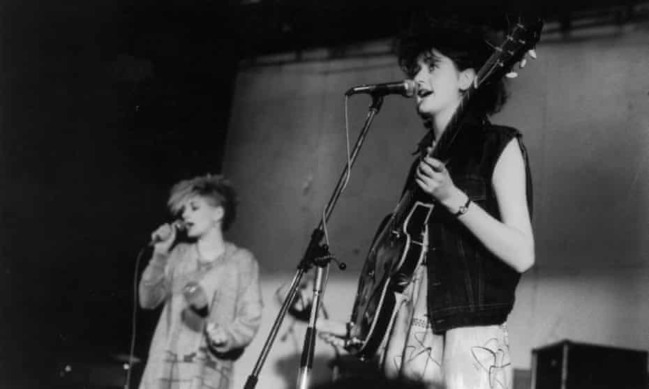 Tracey Thorn in her first band, the Marine Girls.