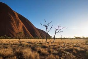 Uluru in the Uluru-Kata Tjuta National Park in the Northern Territory.
