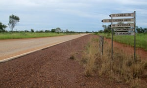 The Jarlmadangah turn-off in Australia. Photo taken on March 5, 2015. Photo shot for a story on remote communities by Calla Wahlquist for The Guardian.