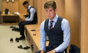 John Stones gets ready for the England squad photo last month in a M&S shoot.