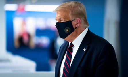 Donald Trump at the American Red Cross national headquarters in Washington DC, on 30 July.