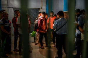 Prisoners in the Maesa Detention Centre, Palu, Central Sulawesi.