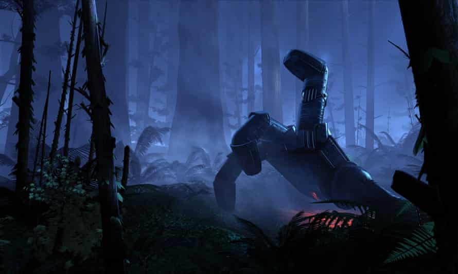 The Lost demo is a short cinematic experience which puts the player in a forest with a giant robot
