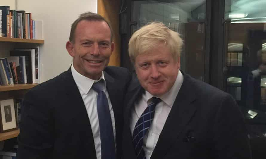 Tony Abbott and Boris Johnson.
