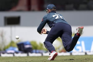 Jason Roy of England has been knocked off from the West Indies garden & Chris Gayle.