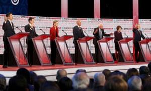 Democratic presidential candidates participate in the last primary debate of 2019.
