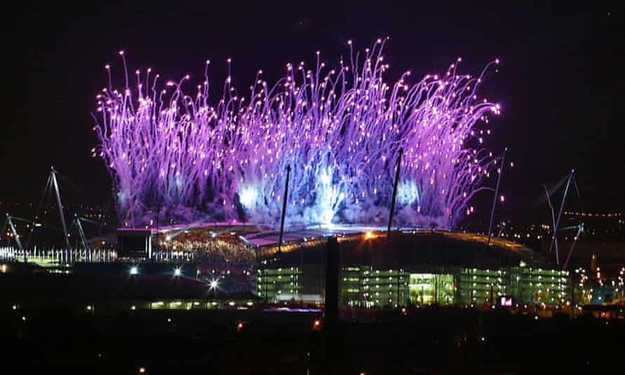 Fireworks illuminate the sky during the opening ceremony of the Commonwealth Games in July 2002.