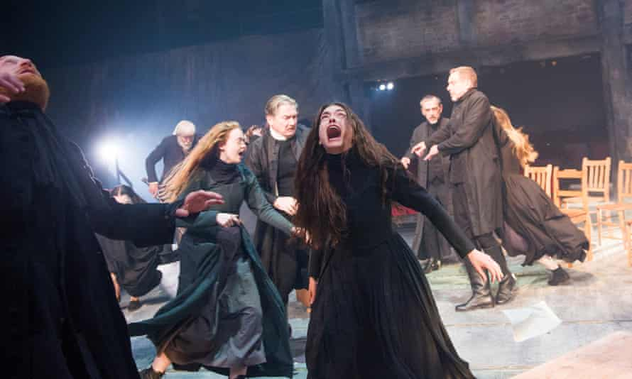 Samantha Colley as Abigail Williams in the Old Vic's 2014 production of The Crucible.