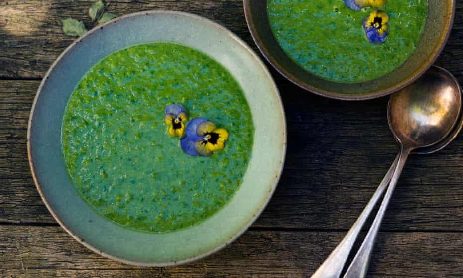 'Brilliant vibrancy': vivid green pea and parsley soup.