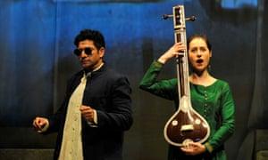 Music lesson … Alok Kumar as Chyavana and Susanna Hurrell as Sukanya.