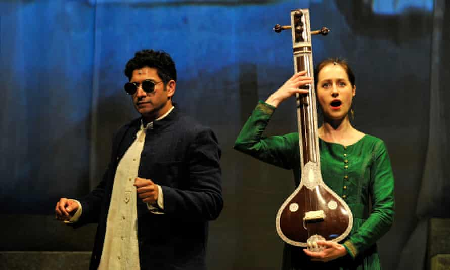 Music lesson … Alok Kumar as Chyavana and Susanna Hurrell as Sukanya.